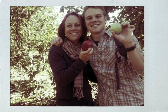 Apple picking with my boy