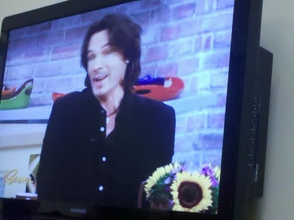 Watching Rick Springfield in the waiting room. Pretty sure he's had a little surgery himself!