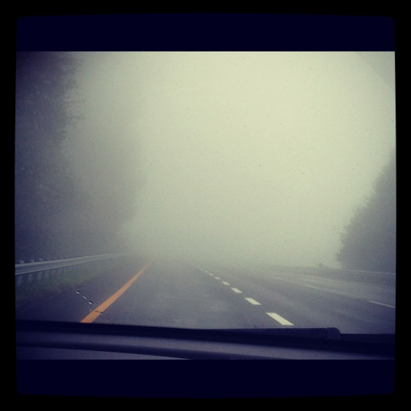 Some of the dense fog I experienced.