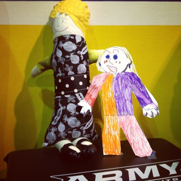 Flat Stanleyette and Erma became fast friends and BFFs!