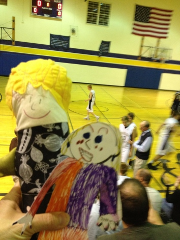 Flat Stanleyette and Erma became fast friends and cheered on the team!
