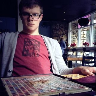 My handsome Scrabble buddy