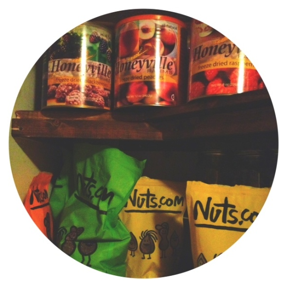 A peek into my pantry. I love both of these companies and will blog about nuts.com soon!