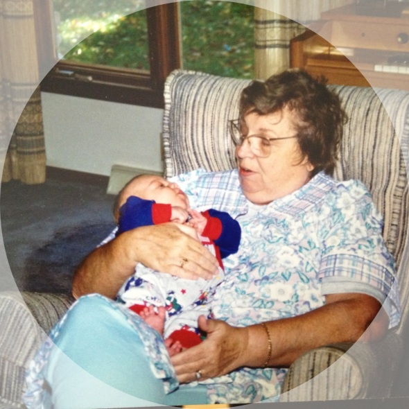 One of the few pictures we have of Ruth holding Aaron.