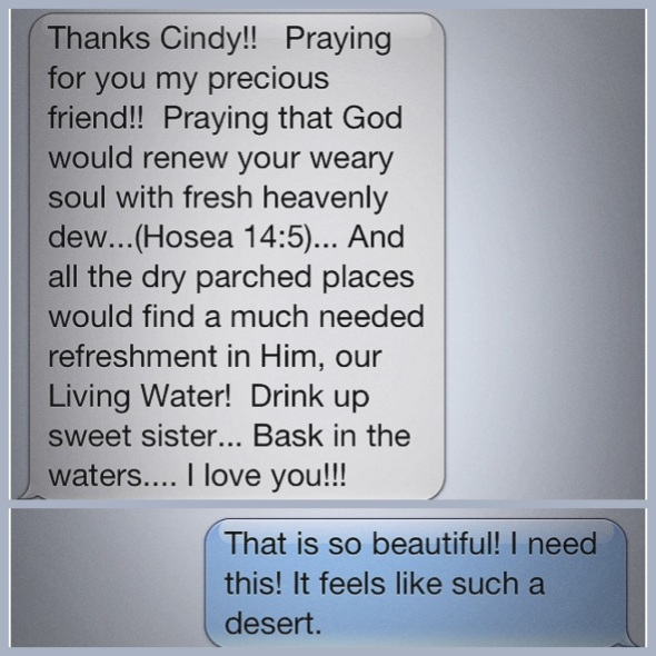 I am blessed with loving and caring friends. Here's just one example of the sweet people I know.
